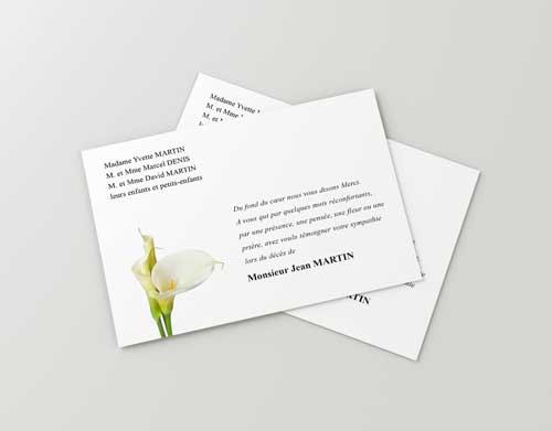 Carte Deces Fleur Blanche