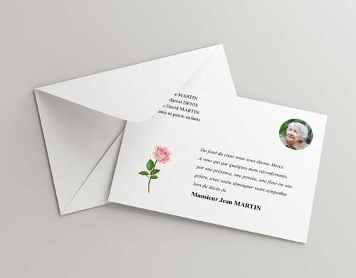 Modele lettre de remerciements condoleances